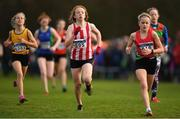 25 November 2018; Katie Mulchrone of Trim A.C. Co. Meath, centre, competing in the Girls U14 2,000m during the Irish Life Health National Senior & Junior Cross Country Championships at National Sports Campus in Abbottstown, Dublin. Photo by Harry Murphy/Sportsfile