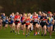 25 November 2018; A general view of athletes during the Girls U14 2,000m during the Irish Life Health National Senior & Junior Cross Country Championships at National Sports Campus in Abbottstown, Dublin. Photo by Harry Murphy/Sportsfile