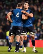 24 November 2018; Quinn Roux of Ireland, right, with team-mate Tadhg Beirne after the Guinness Series International match between Ireland and USA at the Aviva Stadium in Dublin. Photo by Brendan Moran/Sportsfile
