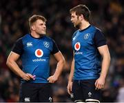 24 November 2018; Jordi Murphy, left, and Iain Henderson of Ireland during the Guinness Series International match between Ireland and USA at the Aviva Stadium in Dublin. Photo by Brendan Moran/Sportsfile