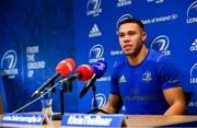 26 November 2018; Adam Byrne during a Leinster Rugby press conference at Leinster Rugby Headquarters in UCD, Dublin. Photo by Ramsey Cardy/Sportsfile
