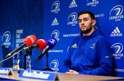 26 November 2018; Josh Murphy during a Leinster Rugby press conference at Leinster Rugby Headquarters in UCD, Dublin. Photo by Ramsey Cardy/Sportsfile