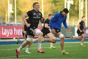 26 November 2018; Dan Leavy, left, and Max Deegan during Leinster Rugby squad training at Energia Park in Donnybrook, Dublin. Photo by Ramsey Cardy/Sportsfile