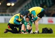 24 November 2018; Nikki Caughey of Ireland is injured during the Women's International Rugby match between England and Ireland at Twickenham Stadium in London, England. Photo by Matt Impey/Sportsfile