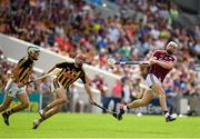 8 July 2018; Joe Canning of Galway in action against James Maher of Kilkenny during the Leinster GAA Hurling Senior Championship Final Replay match between Kilkenny and Galway at Semple Stadium in Thurles, Co Tipperary. Photo by Brendan Moran/Sportsfile