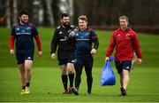 27 November 2018; Players, from left, Ciaran Parker, Kevin O'Byrne, Chris Cloete, and forwards coach Jerry Flannery arrive for Munster Rugby squad training at the University of Limerick in Limerick. Photo by Diarmuid Greene/Sportsfile