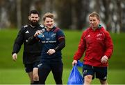 27 November 2018; Kevin O'Byrne, left, Chris Cloete, centre, and forwards coach Jerry Flannery arrive for Munster Rugby squad training at the University of Limerick in Limerick. Photo by Diarmuid Greene/Sportsfile