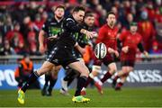 27 October 2018; Ruaridh Jackson of Glasgow Warriors during the Guinness PRO14 Round 7 match between Munster and Glasgow Warriors at Thomond Park, Limerick. Photo by Brendan Moran/Sportsfile