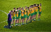 25 November 2018; The Corofin team prior to the AIB Connacht GAA Football Senior Club Championship Final match between Balintubber and Corofin at Elvery's MacHale Park in Castlebar, Mayo. Photo by David Fitzgerald/Sportsfile