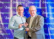 24 November 2018; Barry Monaghan, left, receives the Club Coach of the Year award from Jack Watson of Cycling Ireland during the Cycling Ireland Awards at the Crowne Plaza Hotel in Blanchardstown, Dublin. Photo by Stephen McMahon/Sportsfile