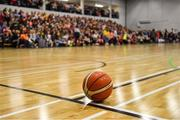 10 November 2018; A general view of a basketball during the Basketball Ireland Men's Superleague match between Garvey's Tralee Warriors and Belfast Star at Tralee Sports Complex in Tralee, Co Kerry. Photo by Piaras Ó Mídheach/Sportsfile