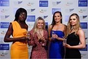 29 November 2018; Team of the Year Award winners, from left, Rhasidat Adeleke, Molly Scott, Ciara Neville and Lauren Roy of the Women's 4x100m Relay Team during the Irish Life Health National Athletics Awards 2018 at the Crowne Plaza Hotel in Blanchardstown, Dublin. Photo by Sam Barnes/Sportsfile