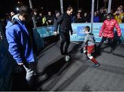 29 November 2018; Former Republic of Ireland international Wes Hoolahan, right and Footballing legend Gaizka Mendieta with participants, from left, Carly Norris, age 9, and Christian Mansfield, age 8, in attendance as Footballing legends Robert Pires & Gaizka Mendieta were in Dublin to showcase their skills at the Street Legends Community Football Event on Mountjoy Square South. The Street Football Community Football event is a joint initiative by Dublin City Council and the Football Association of Ireland ahead of the UEFA EURO 2020 Qualifying Draw in the Convention Centre on Sunday, 2nd December. The Street Legends Community Football Events kicked off on Wednesday, November 28. Other key activations include: Street Legends Community Football, Saturday, December 1, 3pm to 6pm, Commons Street, Dublin 1 with Portuguese legends Nuno Gomes and Vítor Baía. National Football Exhibition, Sunday, December 2 to Sunday, December 9, 11am-7pm, The Printworks, Dublin Castle Both events are free to attend and open to all ages and abilities. Photo by Stephen McCarthy/Sportsfile