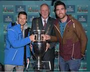 29 November 2018; Former Republic of Ireland international Wes Hoolahan, left, Lord Mayor of Dublin Nial Ring and North East Inner City Initiative Sports Engagement manager, and Dublin footballer, Michael Darragh Macauley in attendance as footballing legends Robert Pirès and Gaizka Mendieta were in Dublin to showcase their skills at the Street Legends Community Football Event on Mountjoy Square South. The Street Football Community Football event is a joint initiative by Dublin City Council and the Football Association of Ireland ahead of the UEFA EURO 2020 Qualifying Draw in the Convention Centre on Sunday, 2nd December. The Street Legends Community Football Events kicked off on Wednesday, November 28. Other key activations include: Street Legends Community Football, Saturday, December 1, 3pm to 6pm, Commons Street, Dublin 1 with Portuguese legends Nuno Gomes and Vítor Baía. National Football Exhibition, Sunday, December 2 to Sunday, December 9, 11am-7pm, The Printworks, Dublin Castle Both events are free to attend and open to all ages and abilities. Photo by Stephen McCarthy/Sportsfile