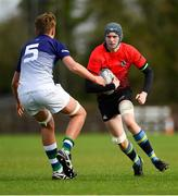 31 October 2018; Liam Hayes of North East Area in action against Ciarán Bolger of Metropolitan Area during the U16s 2nd Round Shane Horgan Cup match between North East Area and Metropolitan Area at Ashbourne RFC in Ashbourne, Co Meath. Photo by Piaras Ó Mídheach/Sportsfile