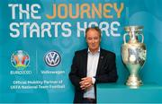 30 November 2018; Volkswagen, Official Mobility Partner of UEFA, teamed up with former Republic of Ireland manager Brian Kerr to launch the UEFA EURO 2020 draw in Dublin's Convention Centre this Sunday. Photo by Ramsey Cardy/Sportsfile
