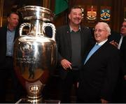 30 November 2018; Former Republic of Ireland international John Aldridge and kitman Charlie O'Leary in attendance at a EURO88 Republic of Ireland squad reception at the Mansion House in Dublin. Photo by Stephen McCarthy/Sportsfile