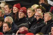 30 November 2018; Munster Rugby CEO Garrett Fitzgerald, left, and Ireland head coach Joe Schmidt and during the Guinness PRO14 Round 10 match between Munster and Edinbugh at Irish Independent Park in Cork. Photo by Diarmuid Greene/Sportsfile