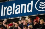 30 November 2018; Munster Rugby CEO Garrett Fitzgerald and Ireland head coach Joe Schmidt, bottom right, during the Guinness PRO14 Round 10 match between Munster and Edinbugh at Irish Independent Park in Cork. Photo by Diarmuid Greene/Sportsfile