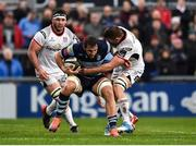 1 December 2018; Josh Turnbull of Cardiff Blues is tackled by Jordi Murphy of Ulster during the Guinness PRO14 Round 10 match between Ulster and Cardiff Blues at Kingspan Stadium in Belfast. Photo by Oliver McVeigh/Sportsfile