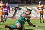 1 December 2018; Tom Farrell of Connacht goes over to score his side's first try during the Guinness PRO14 Round 10 match between Toyota Cheetahs and Connacht at Toyota Stadium in Bloemfontein, South Africa. Photo by Frikkie Kapp/Sportsfile