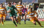 1 December 2018; Tom Farrell of Connacht in action against Rhyno Smith of Toyota Cheetahs during the Guinness PRO14 Round 10 match between Toyota Cheetahs and Connacht at Toyota Stadium in Bloemfontein, South Africa. Photo by Frikkie Kapp/Sportsfile