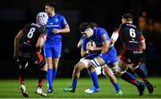 1 December 2018; Caelan Doris of Leinster in action against Ollie Griffiths, left, and Harrison Keddie of Dragons during the Guinness PRO14 Round 10 match between Dragons and Leinster at Rodney Parade in Newport, Wales. Photo by Ramsey Cardy/Sportsfile