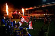 1 December 2018; Dragons run out ahead of the Guinness PRO14 Round 10 match between Dragons and Leinster at Rodney Parade in Newport, Wales. Photo by Ramsey Cardy/Sportsfile