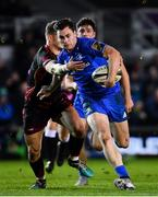 1 December 2018; Conor O'Brien of Leinster is tackled by Hallam Amos of Dragons during the Guinness PRO14 Round 10 match between Dragons and Leinster at Rodney Parade in Newport, Wales. Photo by Ramsey Cardy/Sportsfile