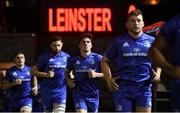 1 December 2018; Jimmy O'Brien of Leinster runs out ahead of the Guinness PRO14 Round 10 match between Dragons and Leinster at Rodney Parade in Newport, Wales. Photo by Ramsey Cardy/Sportsfile