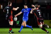 1 December 2018; Ross Byrne of Leinster in action against Lloyd Fairbrother, left, and Aaron Wainwright of Dragons during the Guinness PRO14 Round 10 match between Dragons and Leinster at Rodney Parade in Newport, Wales. Photo by Ramsey Cardy/Sportsfile