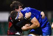 1 December 2018; Caelan Doris of Leinster is tackled by Rhodri Williams of Dragons during the Guinness PRO14 Round 10 match between Dragons and Leinster at Rodney Parade in Newport, Wales. Photo by Ramsey Cardy/Sportsfile