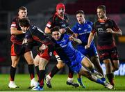 1 December 2018; Rhodri Williams of Dragons is tackled by Hugo Keenan of Leinster during the Guinness PRO14 Round 10 match between Dragons and Leinster at Rodney Parade in Newport, Wales. Photo by Ramsey Cardy/Sportsfile