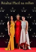 1 December 2018; Sinéad Goldrick of Dublin, left, Tracey Leonard of Galway and Sinéad Aherne of Dublin in attendance at the TG4 Ladies Football All Stars Awards 2018, in association with Lidl, at the Citywest Hotel in Dublin. Photo by Brendan Moran/Sportsfile