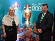 1 December 2018; FAI President Donal Conway and his wife Pat in attendance during the UEFA EURO2020 Qualifying Draw Official Dinner at the Mansion House in Dublin. Photo by Stephen McCarthy/Sportsfile