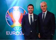 1 December 2018; Republic of Ireland manager Mick McCarthy, right, and Assistant Coach Robbie Keane in attendance during the UEFA EURO2020 Qualifying Draw Official Dinner at the Mansion House in Dublin. Photo by Stephen McCarthy/Sportsfile