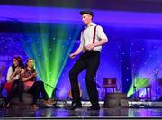 1 December 2018; The Airc Damhsa Dance Club from Co. Leitrim perform during the TG4 Ladies Football All Stars Awards 2018, in association with Lidl, at the Citywest Hotel in Dublin. Photo by Brendan Moran/Sportsfile