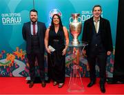 1 December 2018; Attendees, from left, Eoin Leonard, Annette Cleary and Don Daly, from Dublin City Council, prior to the UEFA EURO2020 Qualifying Draw Official Dinner at the Mansion House in Dublin. Photo by Stephen McCarthy/Sportsfile
