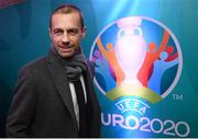 1 December 2018; UEFA President Aleksander Ceferin on his arrival to the UEFA EURO2020 Qualifying Draw Official Dinner at the Mansion House in Dublin. Photo by Stephen McCarthy/Sportsfile
