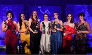 1 December 2018; Dublin players, from left, Lyndsey Davey, Sinéad Goldrick, Ciara Trant, Sinéad Aherne, Lauren Magee, Noelle Healy and Siobhán McGrath with their TG4 All Star awards during the TG4 Ladies Football All Stars Awards 2018, in association with Lidl, at the Citywest Hotel in Dublin. Photo by Brendan Moran/Sportsfile