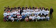 2 December 2018; PwC All Star footballers with members of the Philadelphia GAA Club and the sam maguire Cup after a Coaching Session as part of the PwC All Stars Football tour at Philadelphia GAA Club in Limerick Field, Longview Rd, Pottstown, Philadelphia, PA, USA. Photo by Ray McManus/Sportsfile
