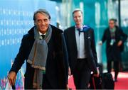 2 December 2018; Italy head coach Roberto Mancini arrives prior to the UEFA EURO2020 Qualifying Draw at the Convention Centre in Dublin. Photo by Sam Barnes/Sportsfile