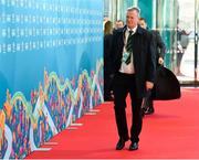 2 December 2018; Northern Ireland head coach Michael O'Neill arrives prior to the UEFA EURO2020 Qualifying Draw at the Convention Centre in Dublin. Photo by Sam Barnes/Sportsfile