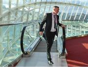 2 December 2018; Northern Ireland head coach Michael O'Neill arrives prior the UEFA EURO2020 Qualifying Draw at the Convention Centre in Dublin. (Photo by Brendan Moran / UEFA via Sportsfile)