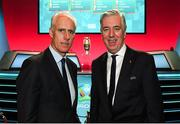 2 December 2018; Republic of Ireland manager Mick McCarthy and John Delaney, CEO, Football Association of Ireland following the UEFA EURO2020 Qualifying Draw at the Convention Centre in Dublin. (Photo by Stephen McCarthy / UEFA via Sportsfile)