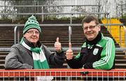2 December 2018; Gaoth Dobhair supporters Paul McFadden, left, and Patrick Friel before the AIB Ulster GAA Football Senior Club Championship Final match between Gaoth Dobhair and Scotstown at Healy Park in Tyrone. Photo by Oliver McVeigh/Sportsfile