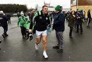 2 December 2018; Kevin Cassidy of Gaoth Dobhair arrives at the ground before the AIB Ulster GAA Football Senior Club Championship Final match between Gaoth Dobhair and Scotstown at Healy Park in Tyrone. Photo by Oliver McVeigh/Sportsfile