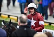 2 December 2018; Davy Russell on Delta Work after winning the BARONERACING.COM Drinmore Novice Steeplechase during the Sunday of the Fairyhouse Winter Festival at Fairyhouse Racecourse in Meath. Photo by Matt Browne/Sportsfile