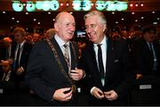 2 December 2018; Lord Mayor Nial Ring, left, with John Delaney, CEO, Football Association of Ireland during the UEFA EURO2020 Qualifying Draw at the Convention Centre in Dublin. (Photo by Stephen McCarthy / UEFA via Sportsfile)