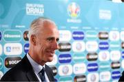 2 December 2018; Republic of Ireland manager Mick McCarthy during post draw flash reactions following the UEFA EURO2020 Qualifying Draw at the Convention Centre in Dublin. (Photo by Stephen McCarthy / UEFA via Sportsfile)